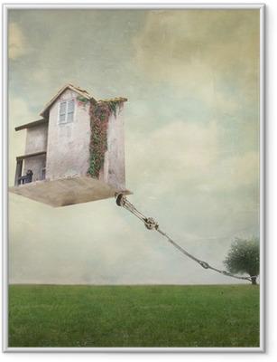 Poster en cadre Maison surréaliste