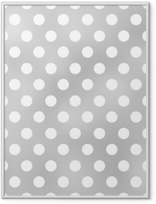 seamless polka dots grey pattern Framed Poster