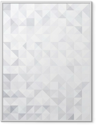 geometric style abstract white & grey background Framed Poster
