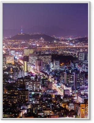 Poster en cadre La ville de Séoul