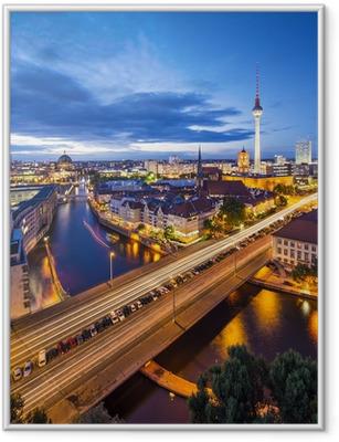 Ingelijste Poster Berlijn, Duitsland Scène Skyline