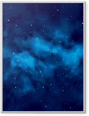 Night sky with stars Framed Poster