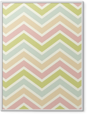 Poster in Cornice Seamless chevron pattern.