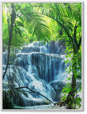 Waterfall in Mexico Framed Poster