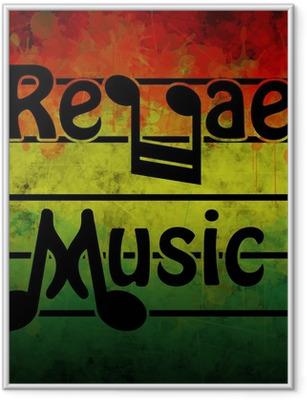 Ingelijste Poster Reggae Music