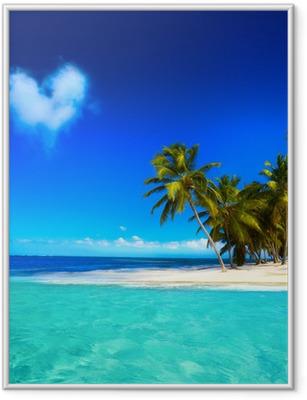 Póster com Moldura Art beautifu seaside view background