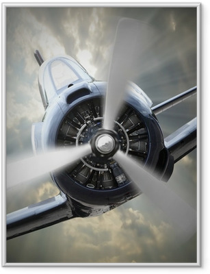 Propeller plane. Framed Poster