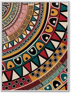 Tribal ethnic background Framed Poster