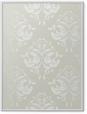 Plakat w ramie Bezszwowe tło wallpaper.damask pattern.floral