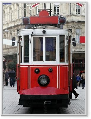 Poster en cadre Istanbul Tram publique