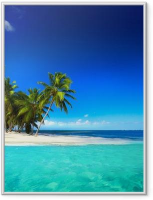 Çerçeveli Poster Sanat güzel sahil görünümü arka plan