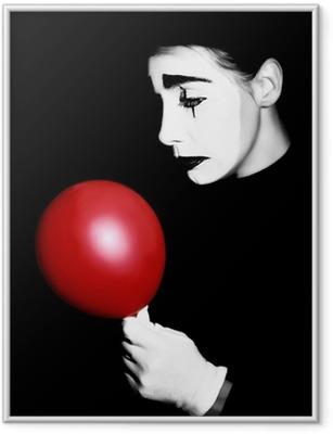 Ingelijste Poster Droevig boots performer Pantomime