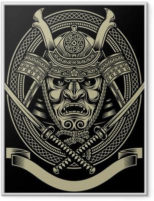 Samurai Warrior With Katana Sword Framed Poster