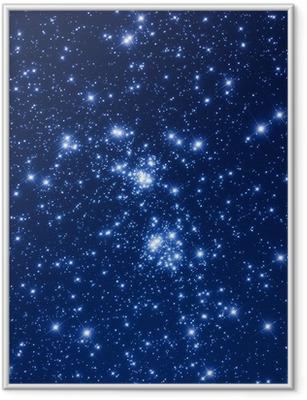 Star cluster. Framed Poster