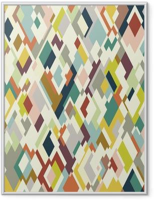 Rhombuses seamless pattern Framed Poster