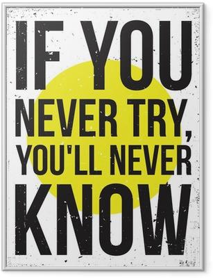 Ingelijste Poster Inspiratie motivatie poster. grunge