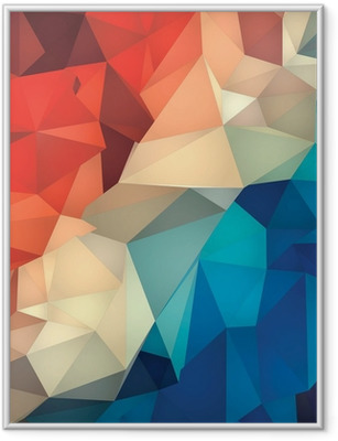 Abstract geometric low poly background. Framed Poster