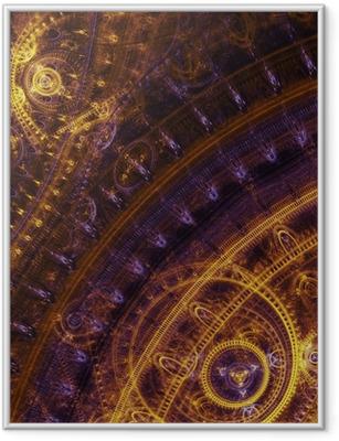 Gerahmtes Poster Fantasy-Steampunk-Design