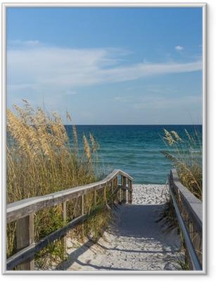 Plakat w ramie Ścieżka do plaży w raju