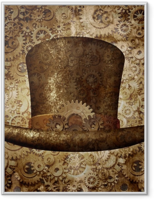 Plakat w ramie Steampunk cylinder