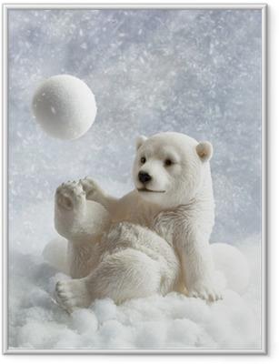 Jääkarhujen koristelu Kehystetty juliste