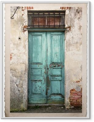 Poster in Cornice Vecchia fotografia portone vintage