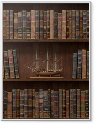 Ingelijste Poster Boeken naadloze textuur. betegeld met andere patronen in mijn galerie