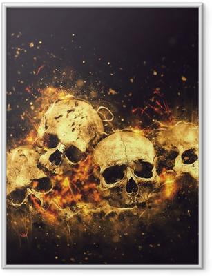 Poster en cadre Crânes et des os - Fêtes internationales