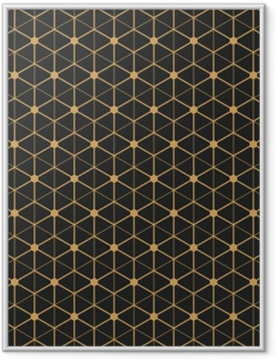 Art Deco seamless vintage wallpaper pattern Framed Poster