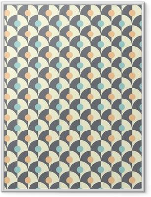 Gerahmtes Poster Nahtlose schlichten Retro-geometrischen Muster der klassischen Stil