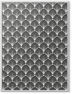 Poster i Ram Abstrakt Seamless Art Deco Vector Mönster Konsistens