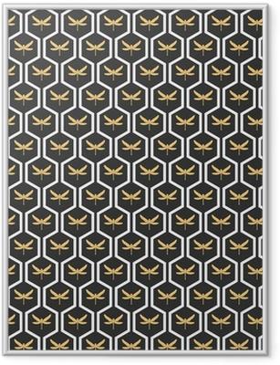 Póster Enmarcado Art Deco patrones sin fisuras papel pintado de la vendimia del vector.