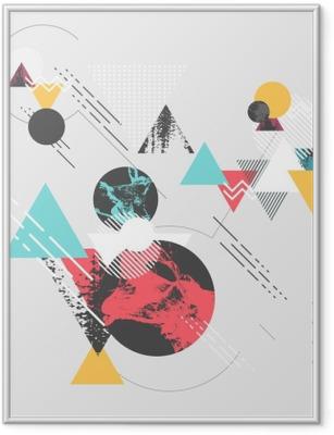 Gerahmtes Poster Abstrakter moderner geometrischer Hintergrund