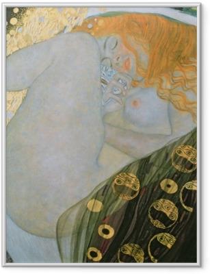 Çerçeveli Poster Gustav Klimt - Danae