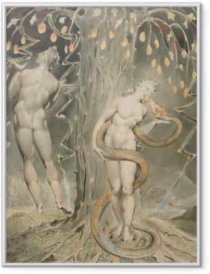Plakát v rámu William Blake - Eve Pokoušen Hada