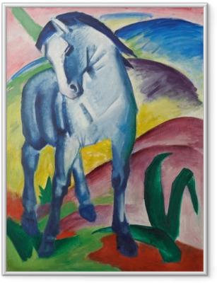 Ingelijste Poster Franz Marc - Modrý kůň