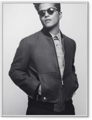 Çerçeveli Poster Bruno Mars