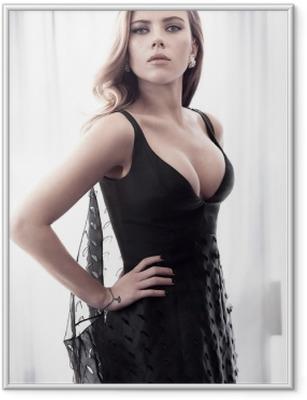 Gerahmtes Poster Scarlett Johansson