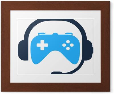Plakat w ramie Podcast gra ikona logo element projektu