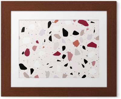 Ingelijste Poster Terrazzo naadloos patroon. abstracte achtergrond