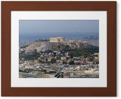 Ingelijste Poster Noorden uitzicht op Parthenon Akropolis Athene Griekenland