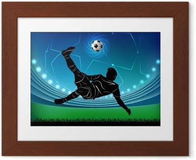 Poster en cadre Joueur de football - ciseaux