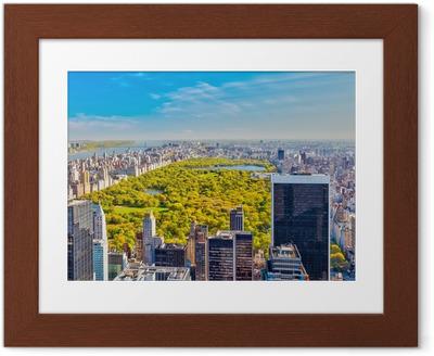 Ingelijste Poster Bekijk op Central Park, New York