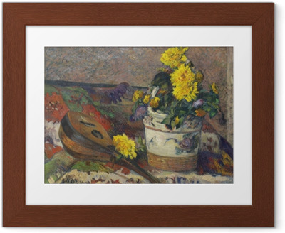 Poster en cadre Paul Gauguin - Nature morte à la mandoline