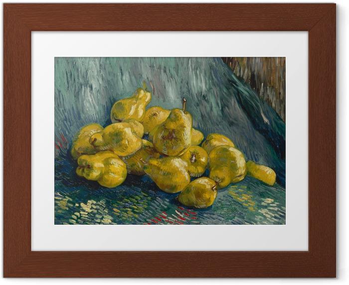 Póster com Moldura Vincent van Gogh - Ainda vida com marmelos - Reproductions