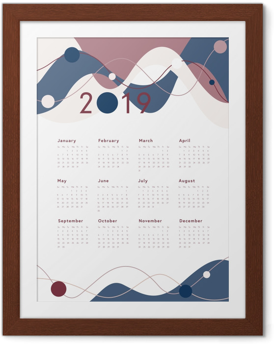 Ingelijste Poster Kalender 2019 -