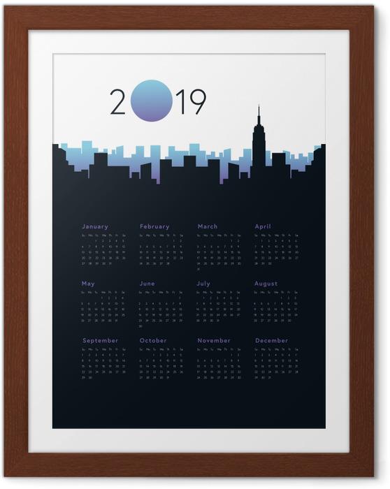 Çerçeveli Poster Takvim 2019 - Şehir -