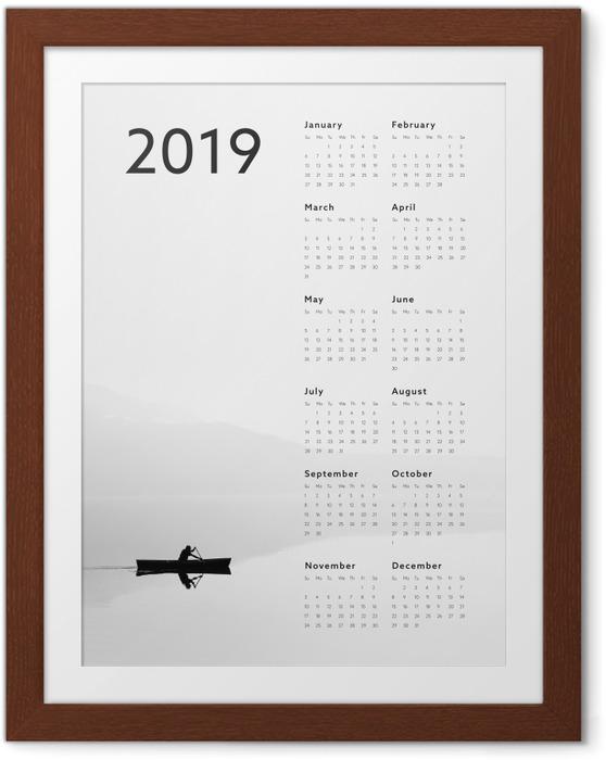 Gerahmtes Poster Kalendarium 2019 - See -