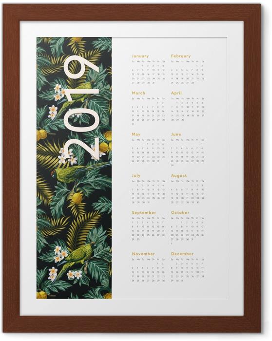 Plakat w ramie Kalendarz 2019 - jesień - Kalendarze 2018