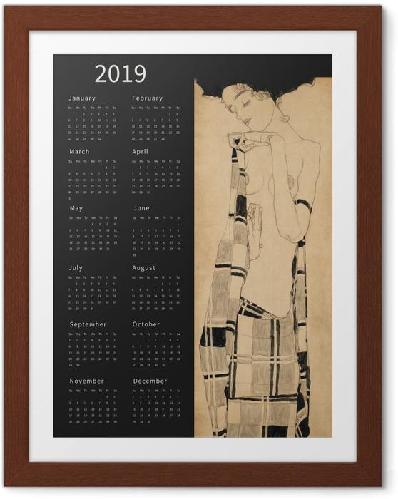 Plakat w ramie Kalendarz 2019 - rozmarzona kobieta - Kalendarze 2018